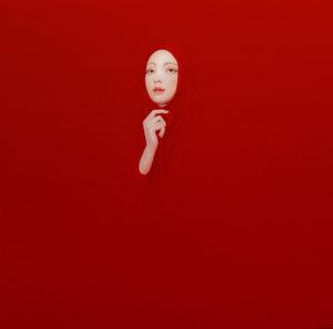 Andrzej Malinowski Artist | Voile | hyperrealism red rouge | Galerie Mickaël Marciano Place des Vosges Paris
