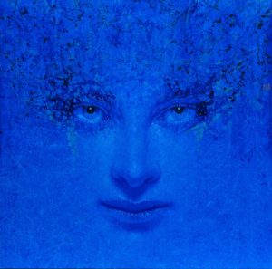Andrzej Malinowski Artist | Blue Eyes | hyperrealism bleu blue | Galerie Mickaël Marciano Place des Vosges Paris