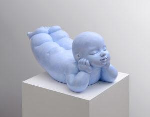Artiste MARIELA Garibay Fantaisie | Bronze Sculpture bébé Tendre | Galerie Mickaël Marciano Art Place des Vosges