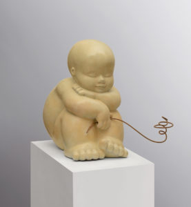Artiste MARIELA Garibay Fleur | Bronze Sculpture bébé Tendre | Galerie Mickaël Marciano Art contemporain Paris