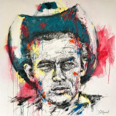 Nathalie D'Hénault Artiste | James Dean | graphic portraits icon pop | Galerie Mickaël Marciano Place des Vosges Paris