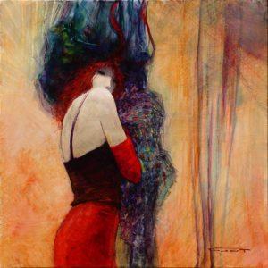 Artist Marcel Pajot La bretelle Mauve | peinture | Galerie Mickaël Marciano Art Place des Vosges