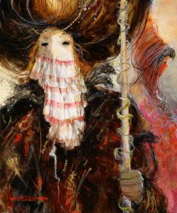 Artist Marcel Pajot Un Regard | Masque Venise | Mickaël Marciano Art Gallery Place des Vosges