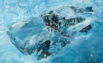 Marcello Artist | Chlorine | Marciano Contemporary | Hyperrealism painting | cars underwater.