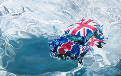 Marcello Artist | Mini | Marciano Contemporary | Hyperrealism painting | cars underwater.