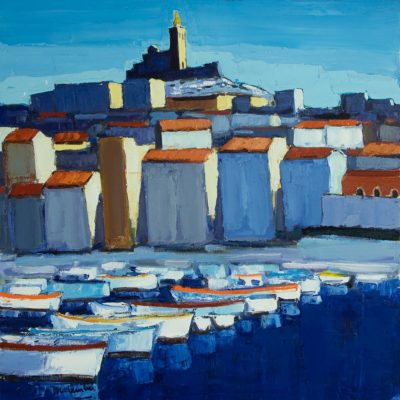 Jean-Claude Quilici Marseille | Paysage figurative painting | Artist Mickaël Marciano Art Gallery Place des Vosges
