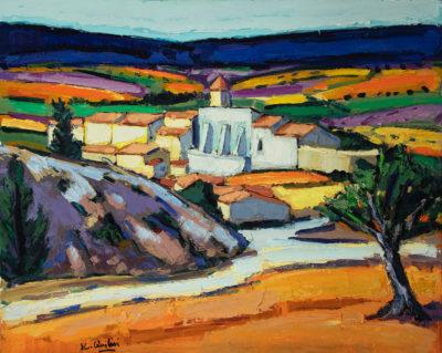 Jean-Claude Quilici Paysage en haute provence Aurel | Paysage figurative painting | Artist Mickaël Marciano Art Gallery Place des Vosges