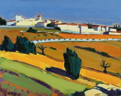 Jean-Claude Quilici Soleil Automne sur Aurel | Paysage figurative painting | Artist Mickaël Marciano Art Gallery Place des Vosges