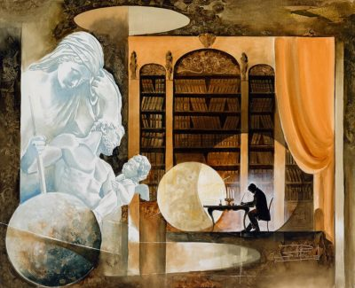 Roger Suraud Reflexion | Writer Poet Sulpture Paragon | Galerie Mickaël Marciano Art Place des Vosges