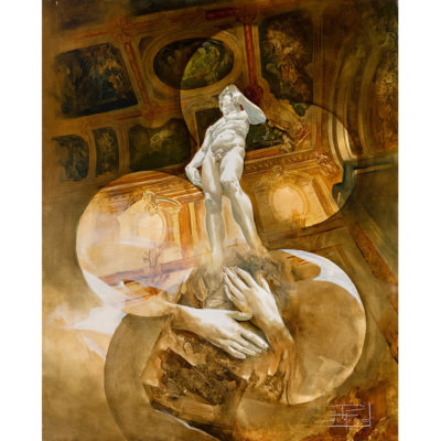 Roger Suraud Hommage a david | Marbre sculpture | Mickaël Marciano Art Gallery Paris