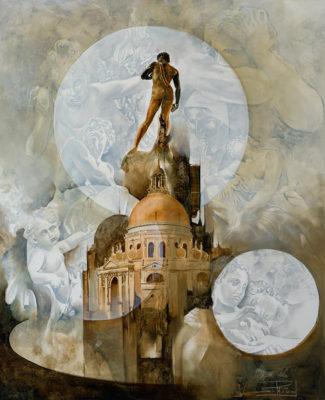 Roger Suraud Imagination | Sculpture marbre antique Venise | Galerie Mickaël Marciano Art Place des Vosges