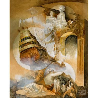 Roger Suraud Le Vaisseau Fantome | Bateau sculpture classique | Galerie Mickaël Marciano Art Place des Vosges