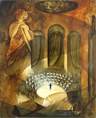 Roger Suraud Les Violons | Musique concert peinture | Mickaël Marciano Art Gallery Paris