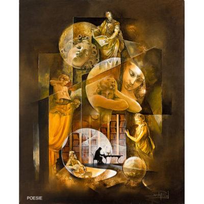 Roger Suraud Poesie | Ecrivain sculpture Marbre | Mickaël Marciano Art Gallery Paris