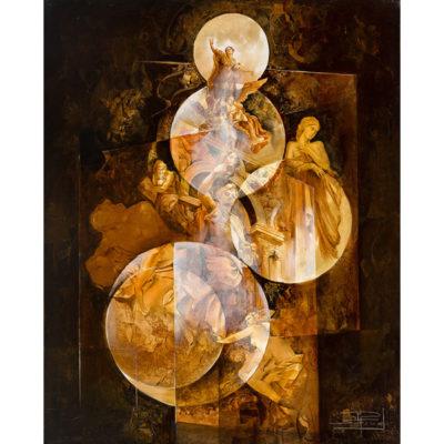 Roger Suraud Reves de Gloire | sculpture marbre classic painting | Mickaël Marciano Art Gallery Place des Vosges