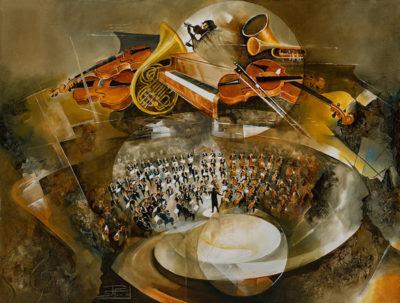 Roger Suraud Sonate | Concert symphonie musique music instrument | Mickaël Marciano Art Gallery Paris