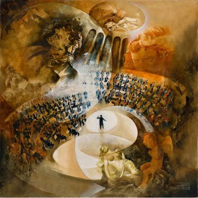 Roger Suraud Symphonie Fantastique | Concert musique peinture | Mickaël Marciano Art Gallery Paris