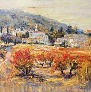 Jean-Paul Surin Automne à Maubec | Landscapes | Mickaël Marciano Art Gallery Place des Vosges