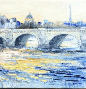 Jean-Paul Surin le Pont neuf | Paysages paris | Mickaël Marciano Art Gallery Paris