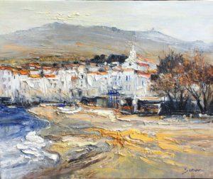 Jean-Paul Surin Plage à Cadaques | Paysages | Galerie Mickaël Marciano Art Place des Vosges