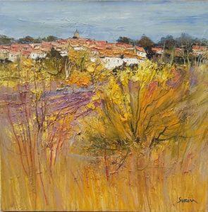 Jean-Paul Surin Village de sault | Paysages | Galerie Mickaël Marciano Art Place des Vosges